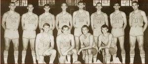 1966-67 Citadel Bulldogs. Front row: John DeBrosse, Pat Conroy, Jim Halprin, T.E. Hooper. Back row: Doug Bridges, Greg Connor, Brian Kennedy, Dave Bornhorst, Dan Mohr, Al Kroboth, Bob Cauthen, Bill Zinsky.
